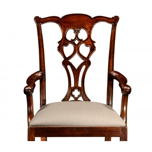 Chippendale Mahogany Dining Armchair Swanky Interiors