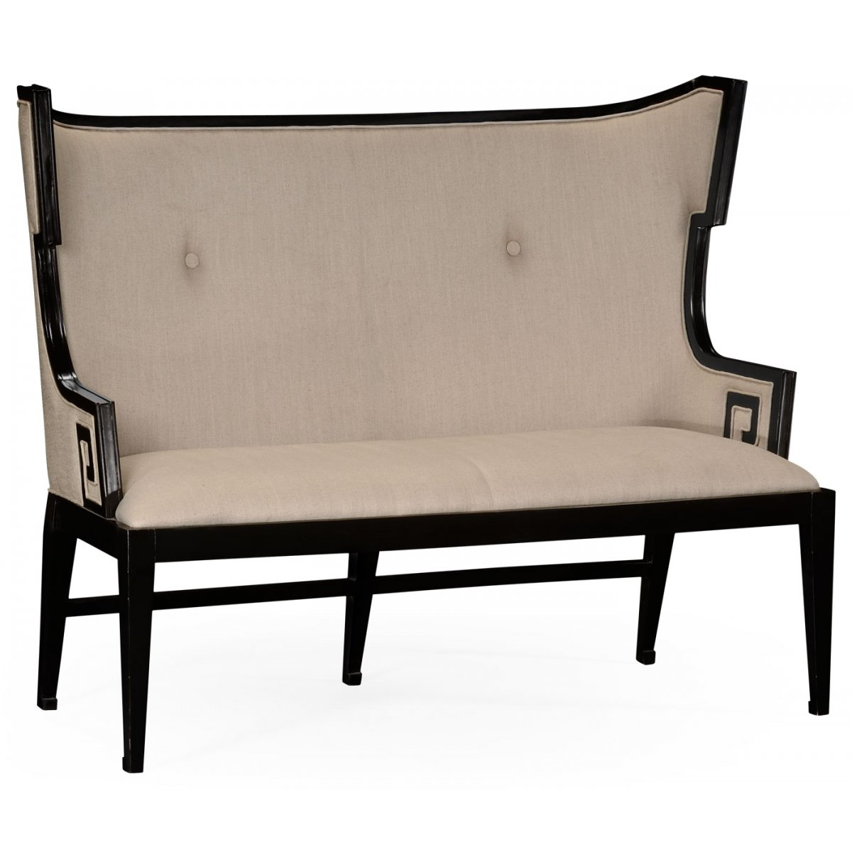 Upholstered dining bench settee swanky interiors for Dining room upholstered bench