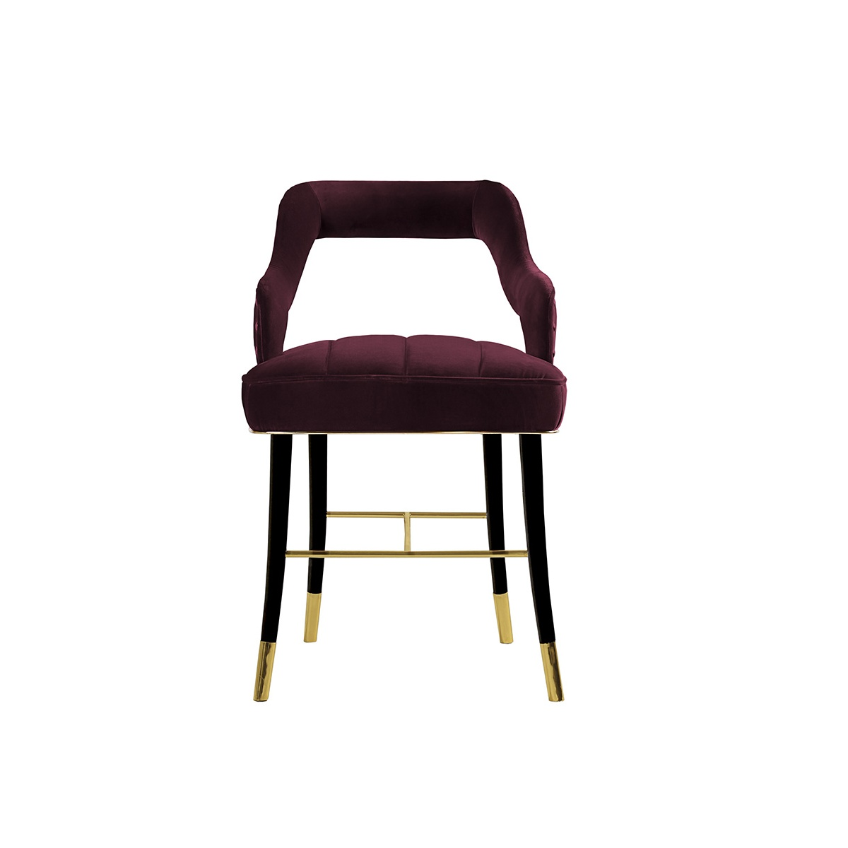 Kelly velvet dining chair designer chair swanky interiors for Dining room velvet chairs