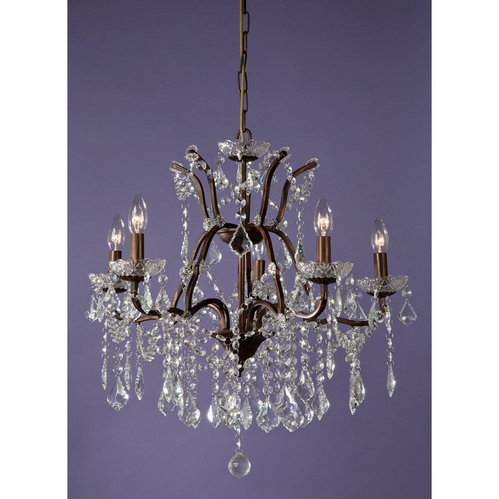 Chandelier Lighting Sale Uk: Buy 5 Light Glass Chandelier