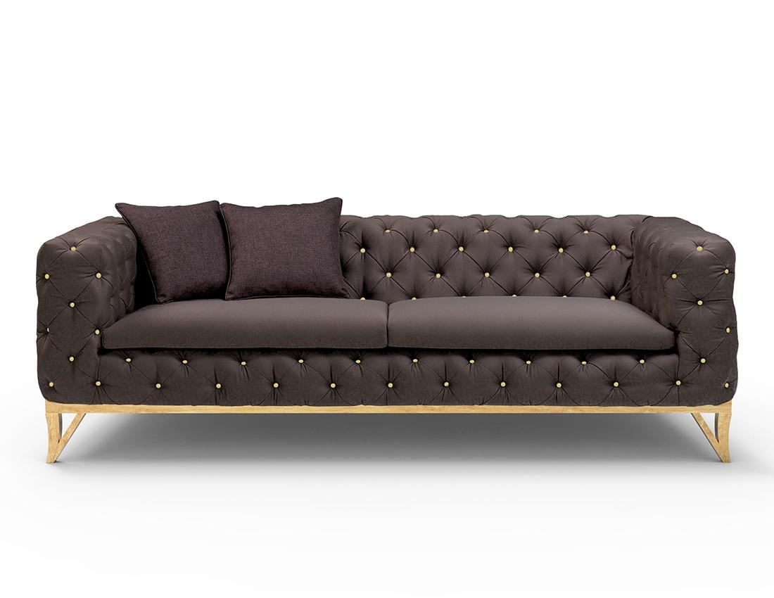 Buy Stylish Milan Black Velvet Sofa Designer Black