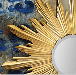 Small French Gold Sun Mirror