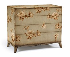 French Painted Floral Chest Of Drawers