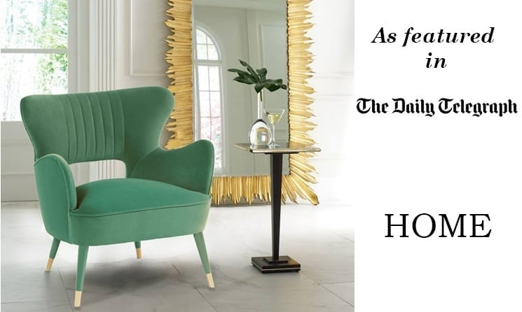 Green Designer Armchair And Mirror