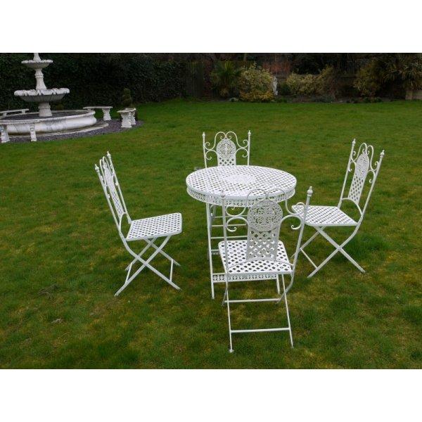 Buy White 4 Seater Dining Set White Patio Set Swanky