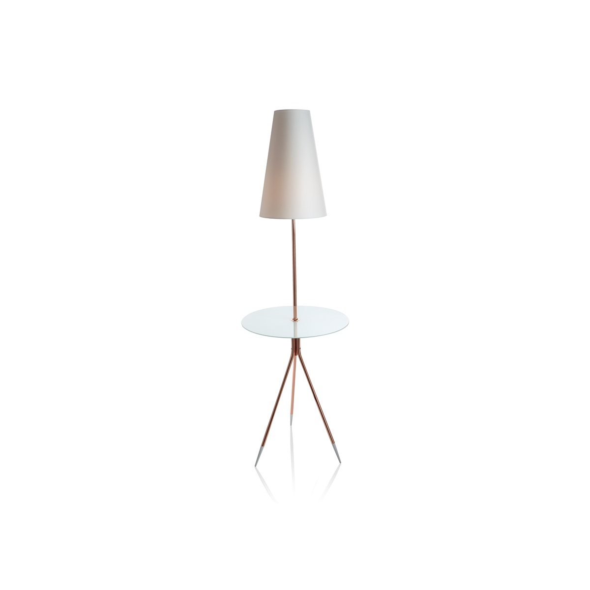 Floor Lamp Glass Side Table With Lamp