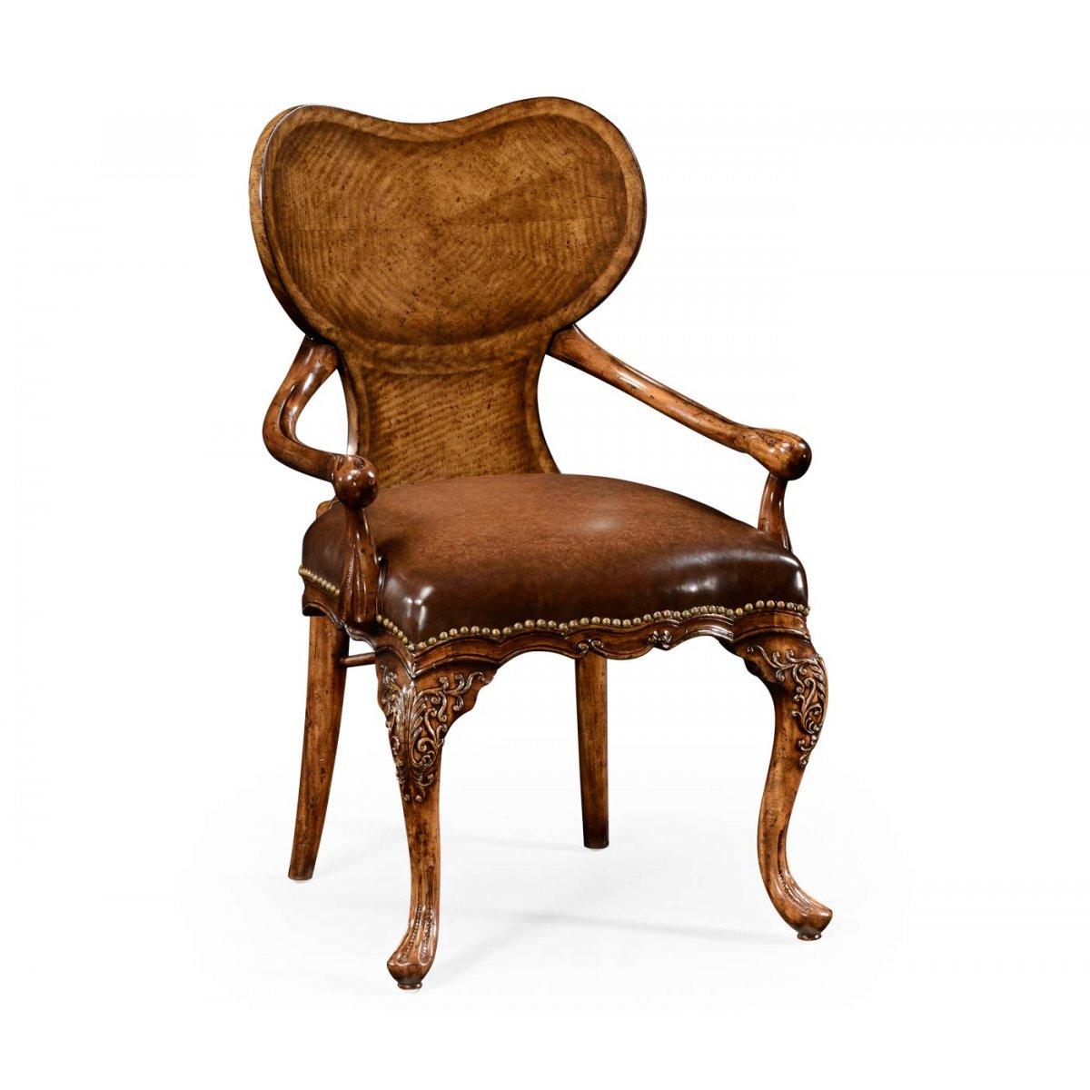 buy walnut kidney desk chair armchair swanky interiors