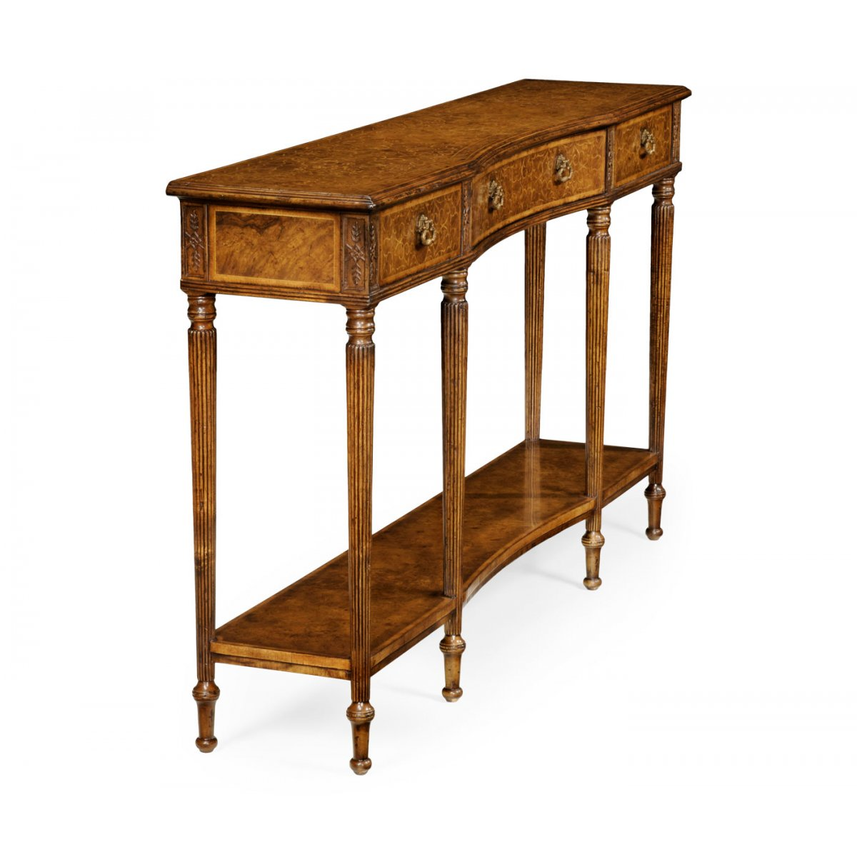 Narrow Walnut Console Table Swanky Interiors