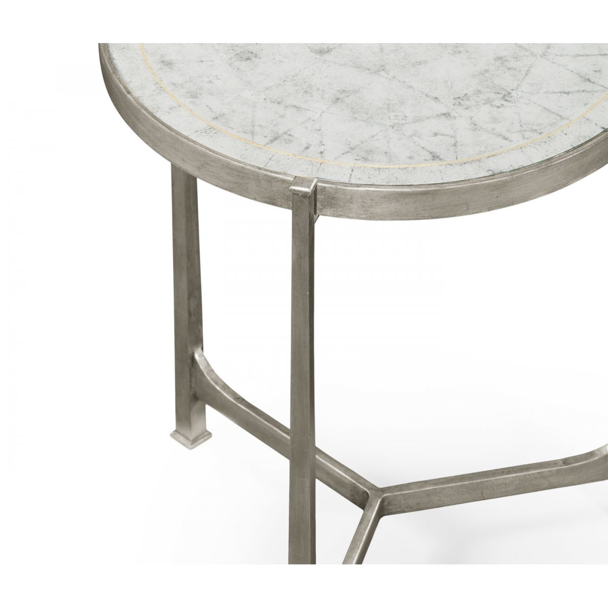 designer glass side table silver swanky interiors