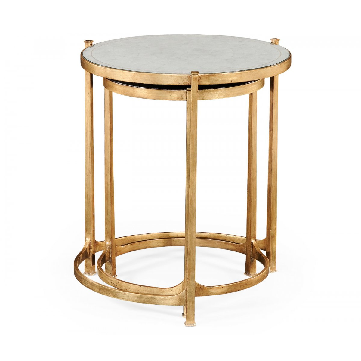 Nest of mirrored tables gold swanky interiors jonathan charles furniture nest of mirrored tables gold watchthetrailerfo