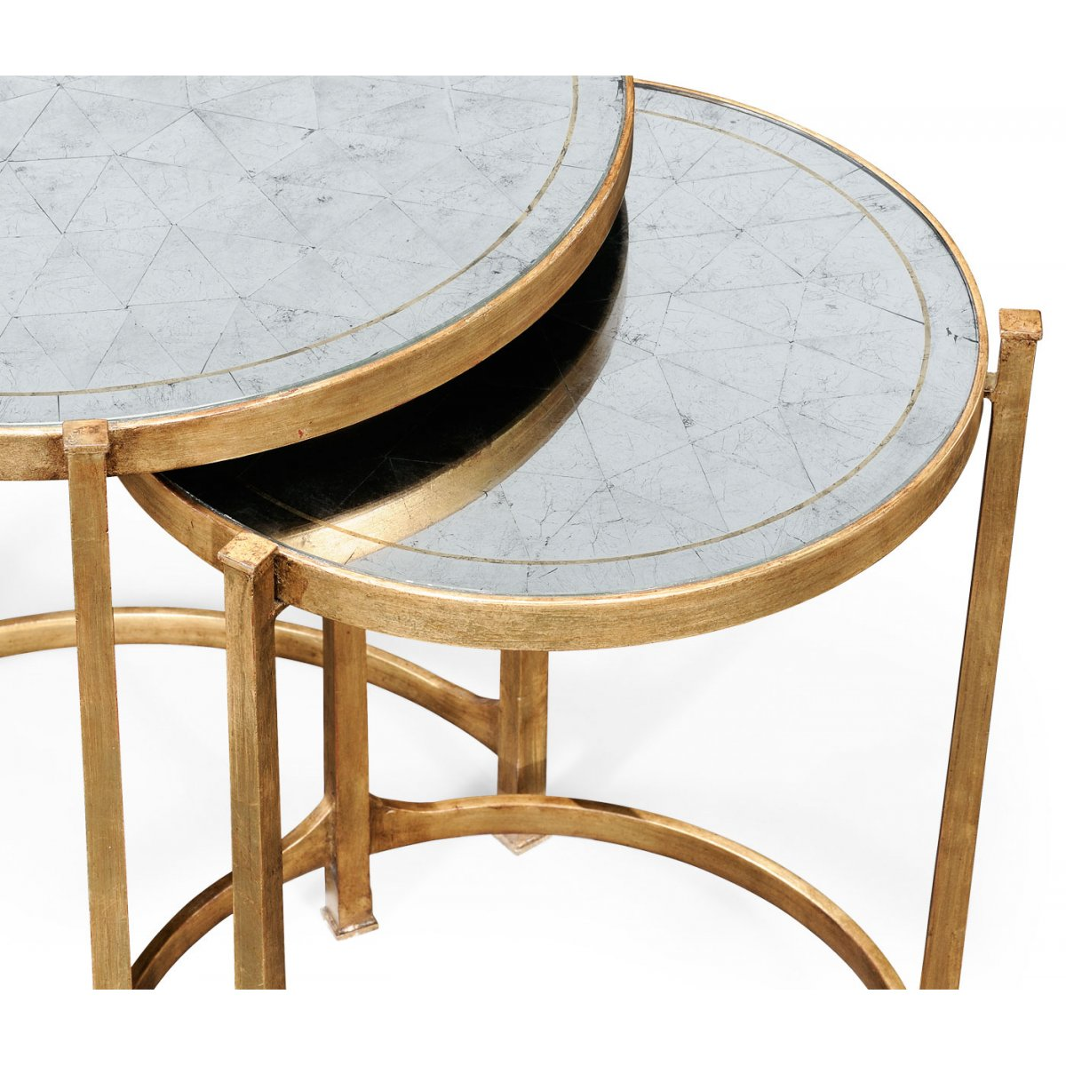 ... Jonathan Charles Furniture Nest Of Mirrored Tables, Gold ...