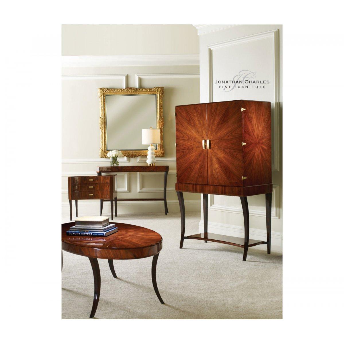 jonathan charles furniture art deco drinks cabinet high lustre u2039