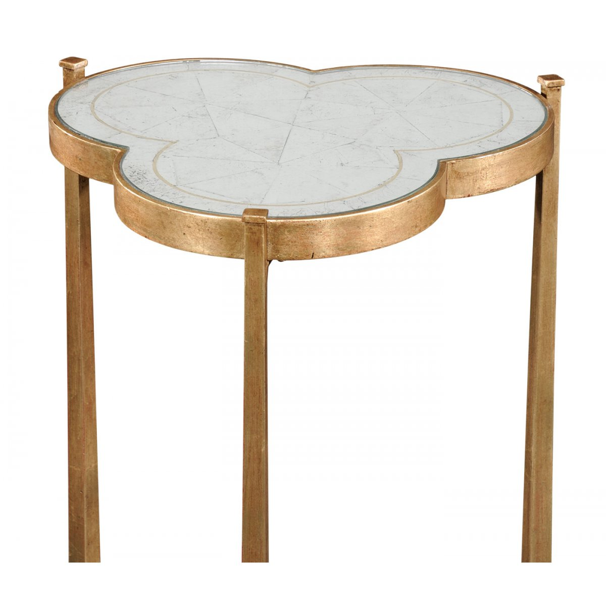 mirrored side table gold swanky interiors. Black Bedroom Furniture Sets. Home Design Ideas
