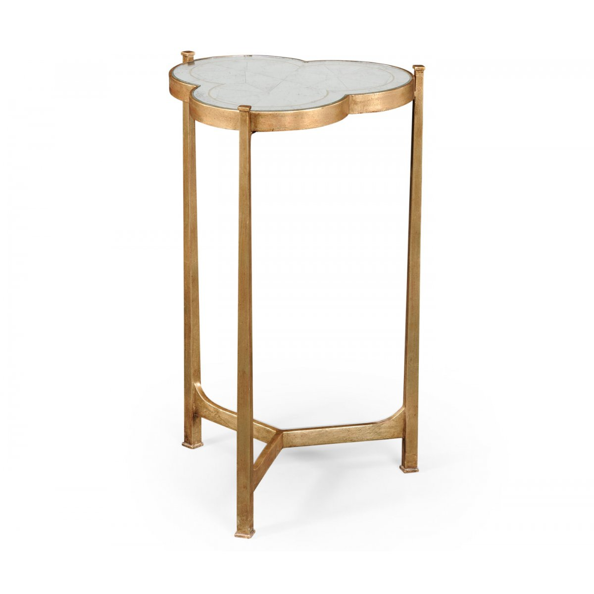 Mirrored Side Table Gold Swanky Interiors