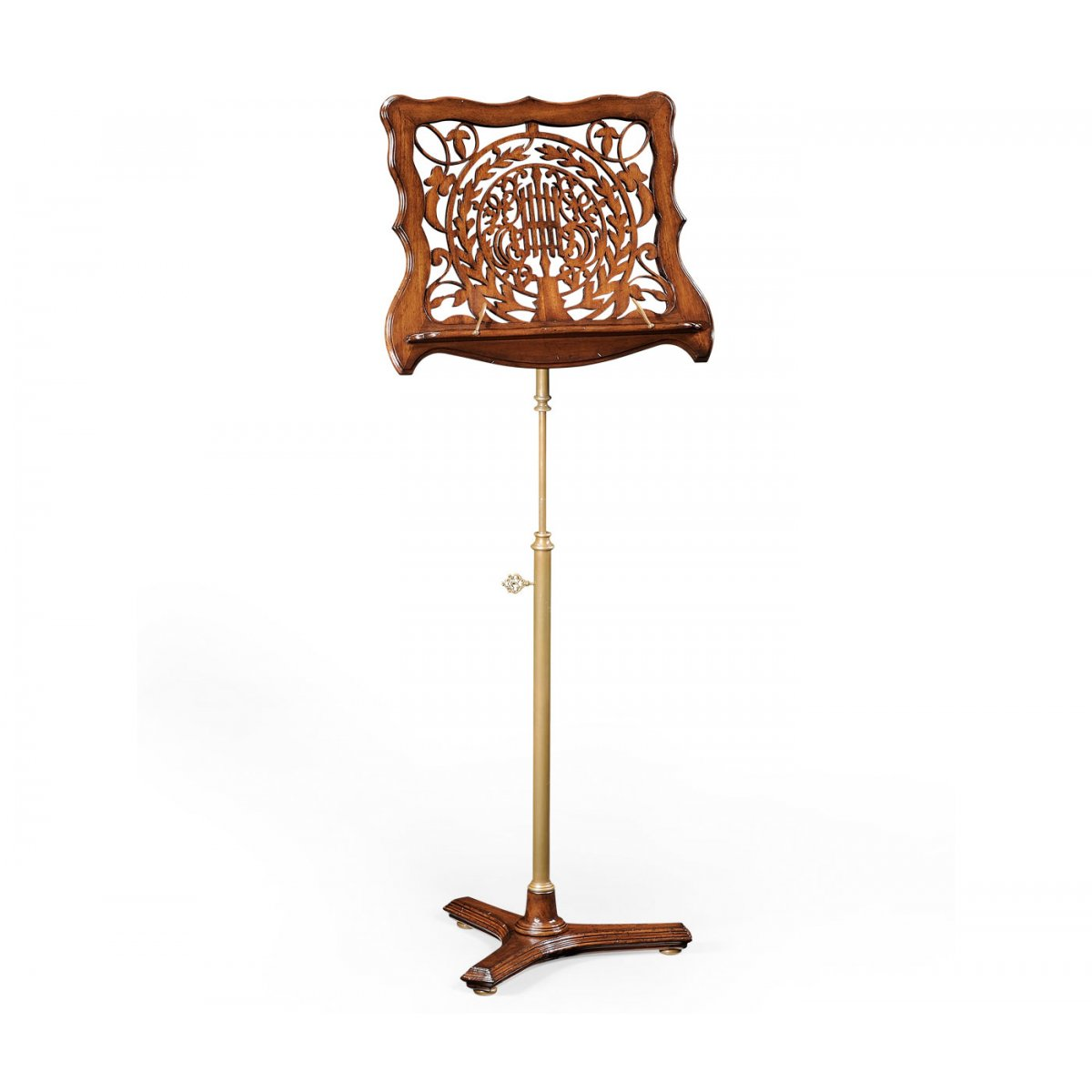 Adjustable Wooden Music Stand With Fretwork Swanky Interiors