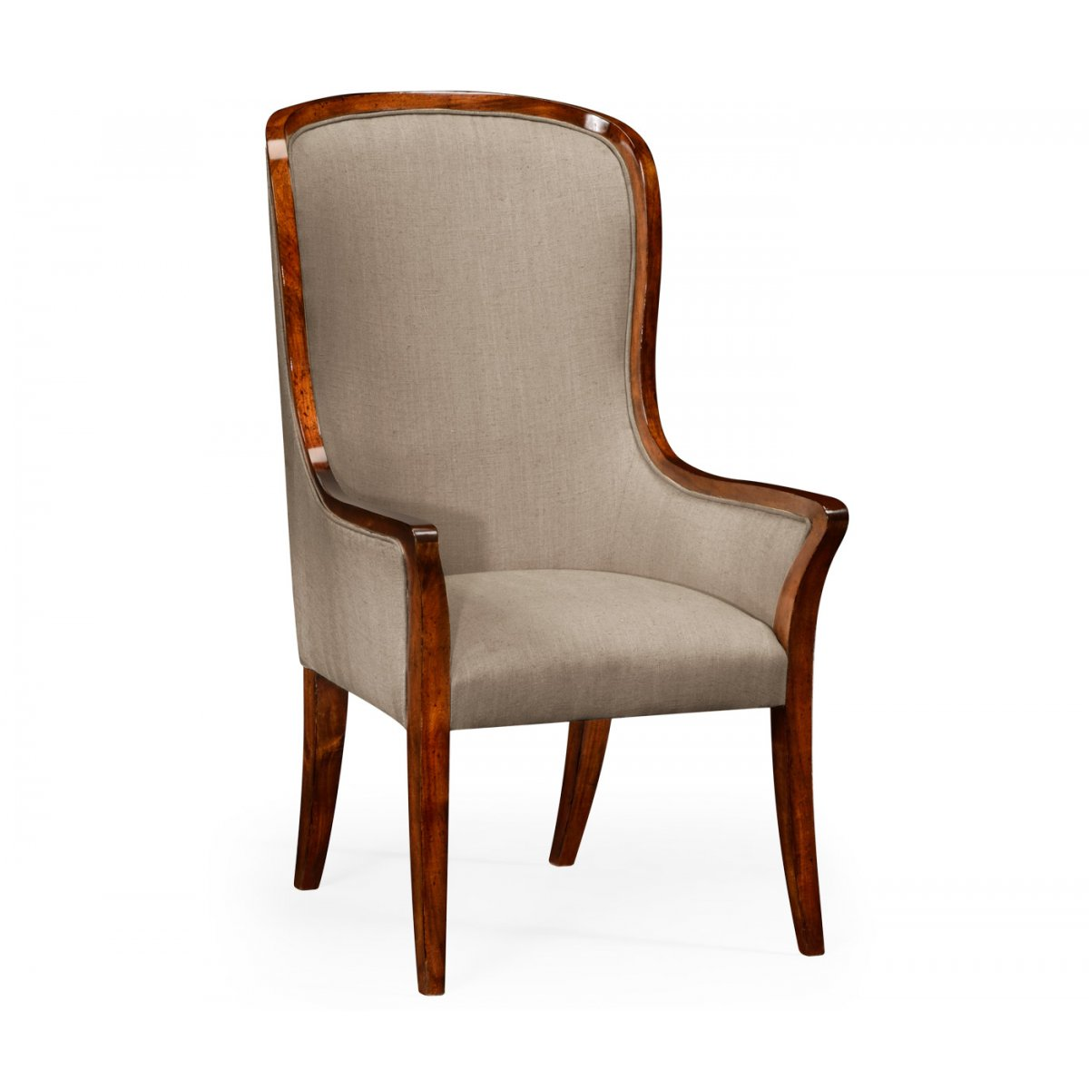 Upholstered High Back Dining Chair: High Back Upholstered Dining Armchair