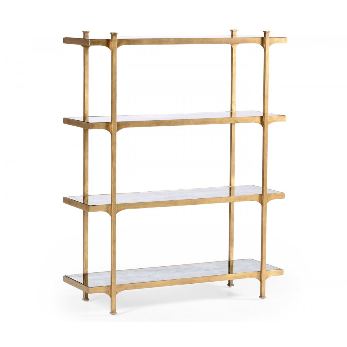 glass etagere display bookcase swanky interiors. Black Bedroom Furniture Sets. Home Design Ideas