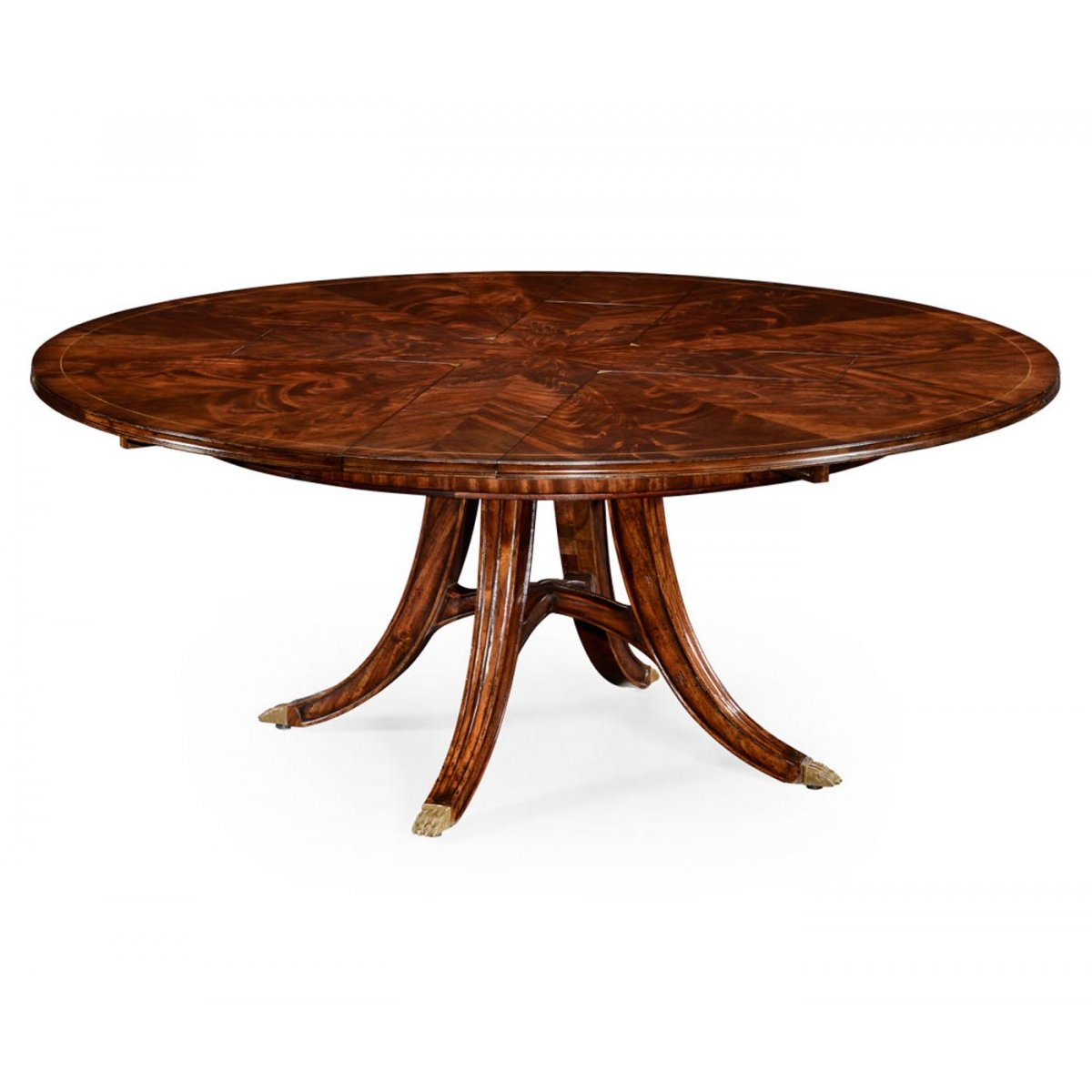 8 10 seater round extending dining table swanky interiors