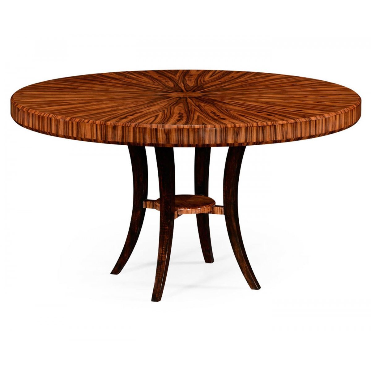 Round Dinner Table For 6: 6 Seater Art Deco Round Dining Table 54''