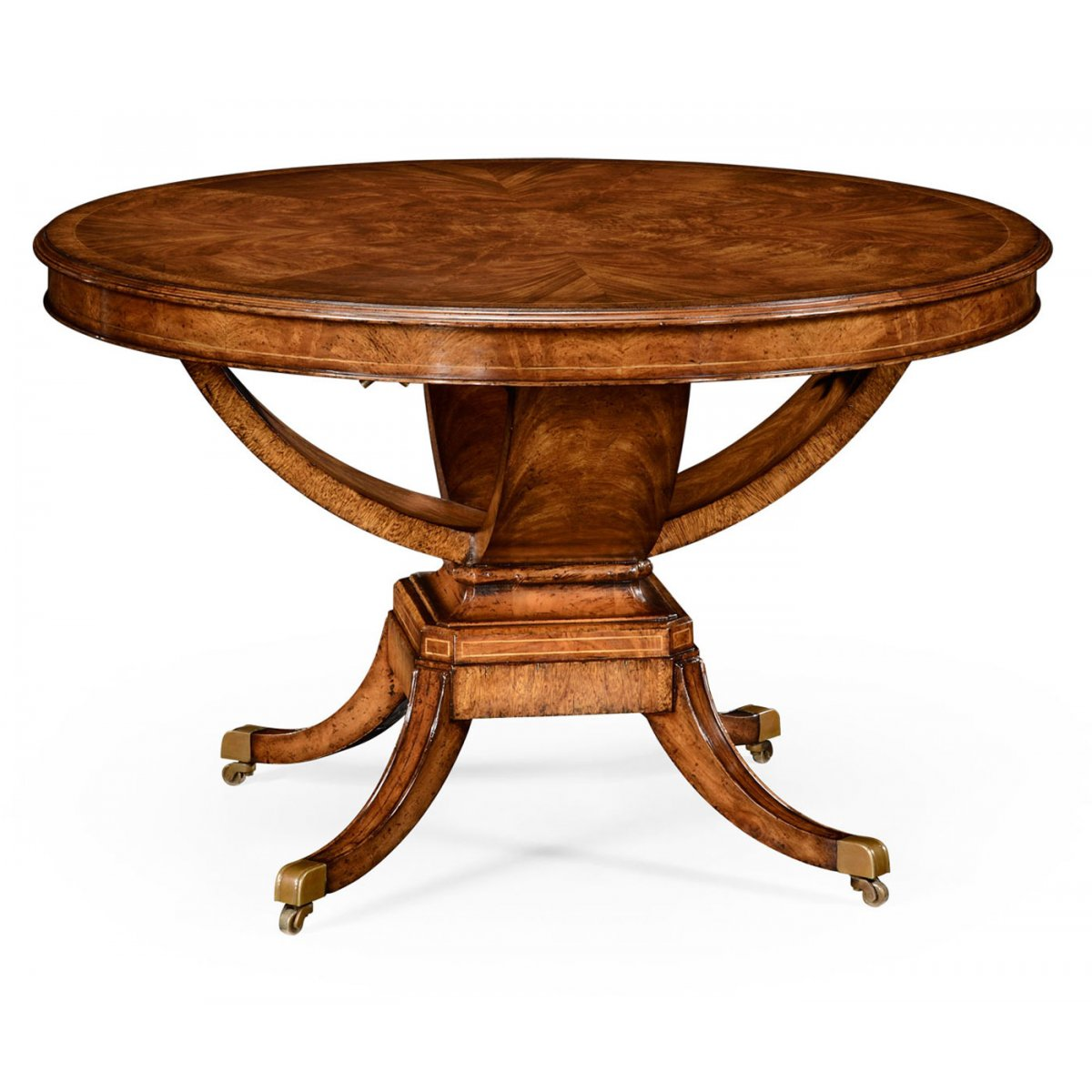 6 seater round dining table walnut swanky interiors for Round dining table for 6