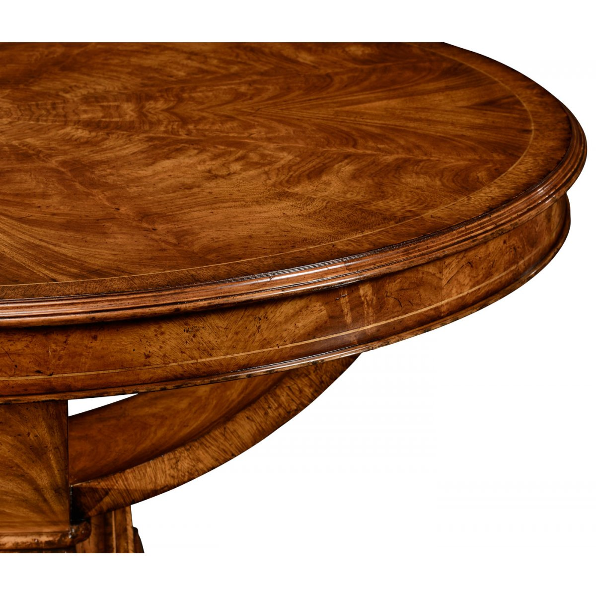 6 seater round dining table walnut swanky interiors