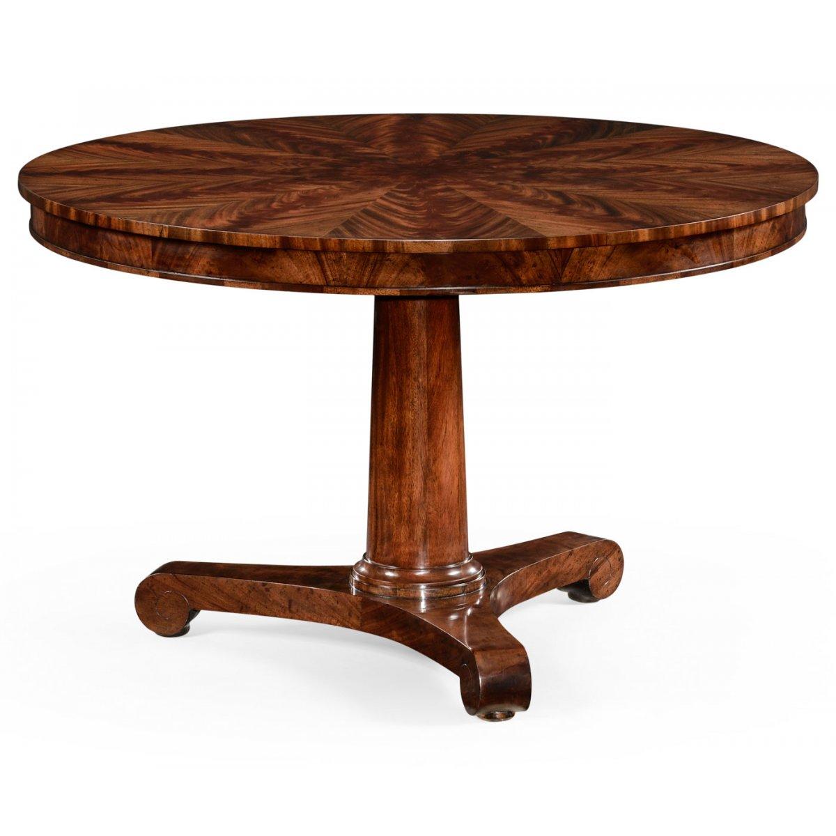 6 Seater Pedestal Mahogany Dining Table Swanky Interiors