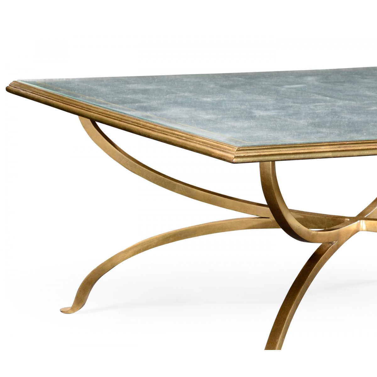 french glass square coffee table gold swanky interiors