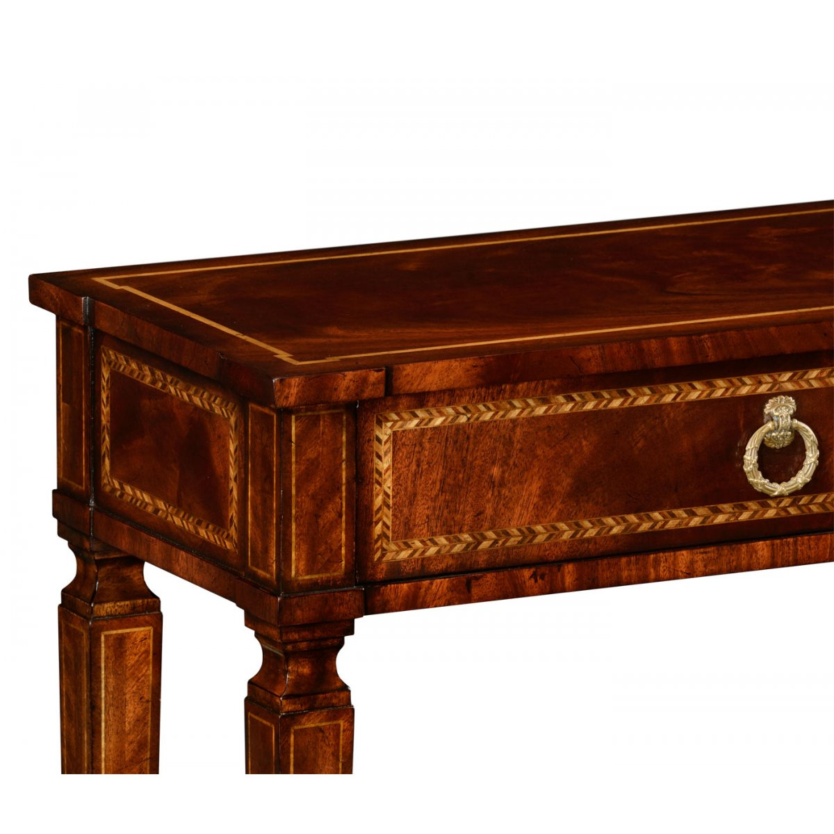 Mahogany Console Table With 2 Drawers Swanky Interiors