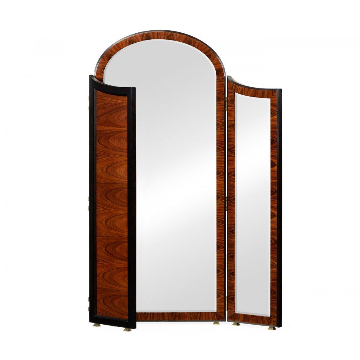 art deco full length triple dressing mirror swanky interiors. Black Bedroom Furniture Sets. Home Design Ideas