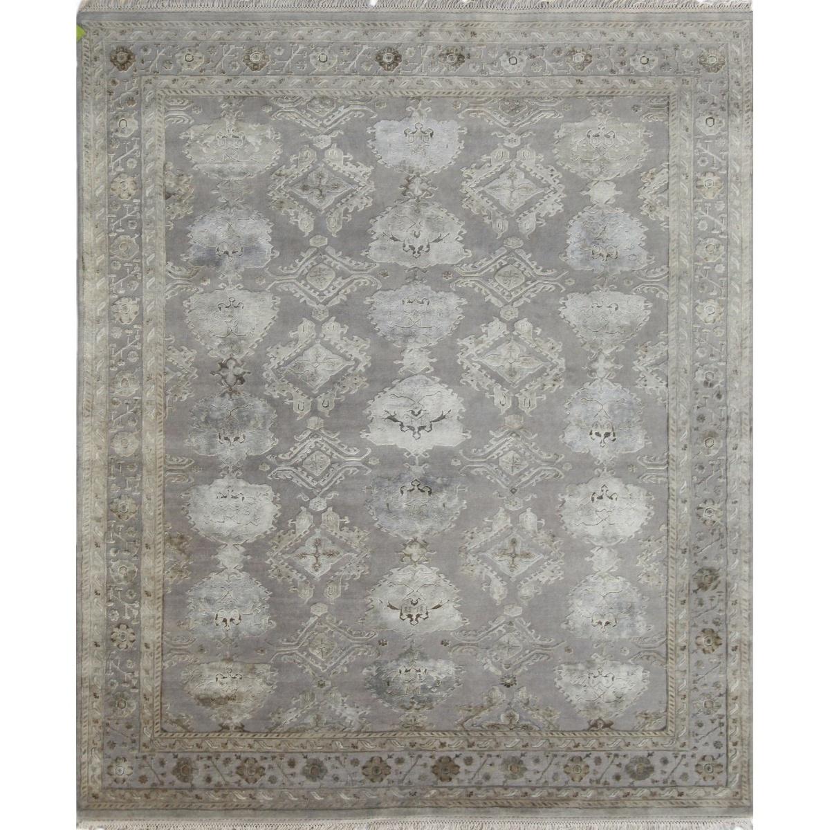 Designer Rug Empress Soft Grey Silk Swanky Interiors
