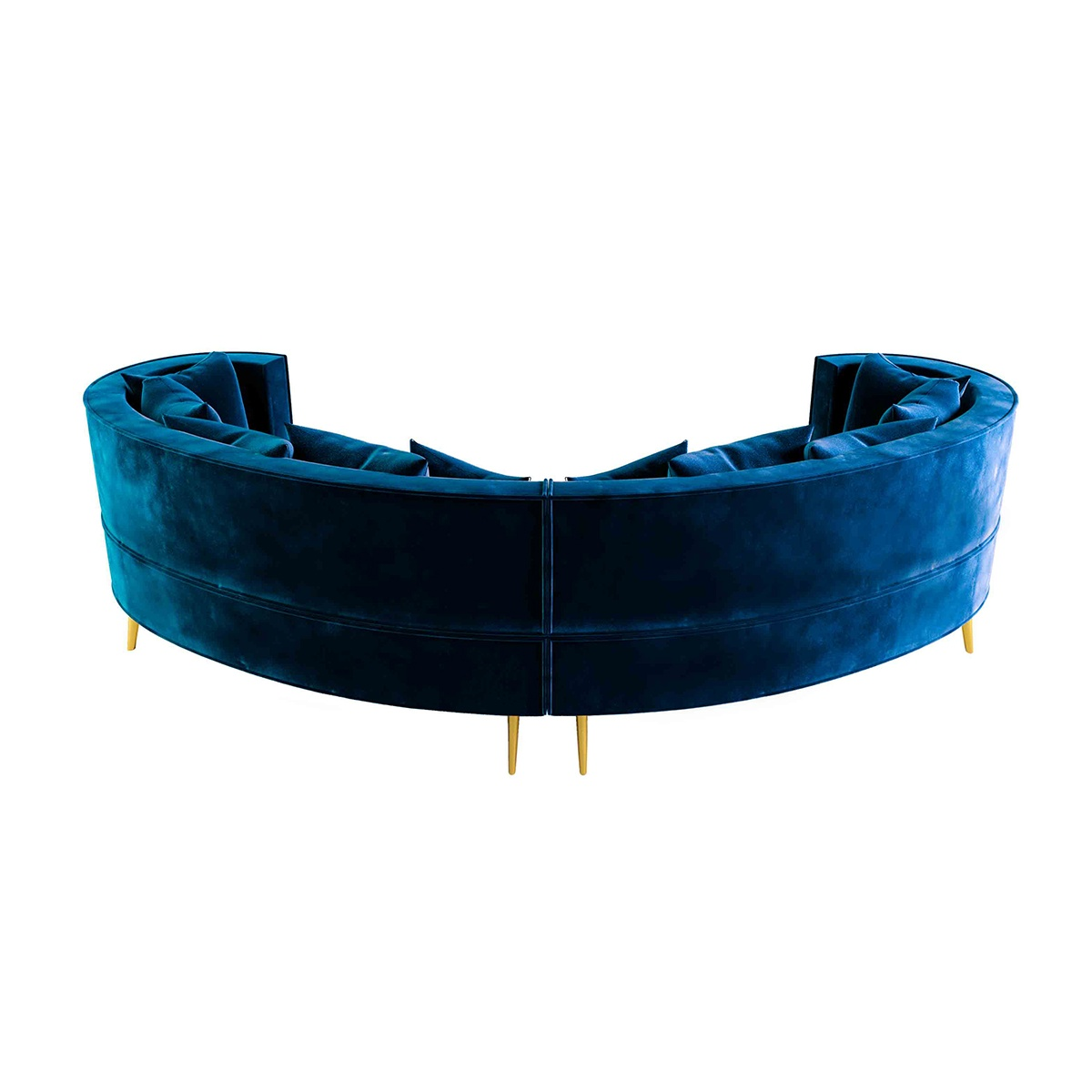 Margret Blue Velvet Sofa Designer Sofa Swanky Interiors