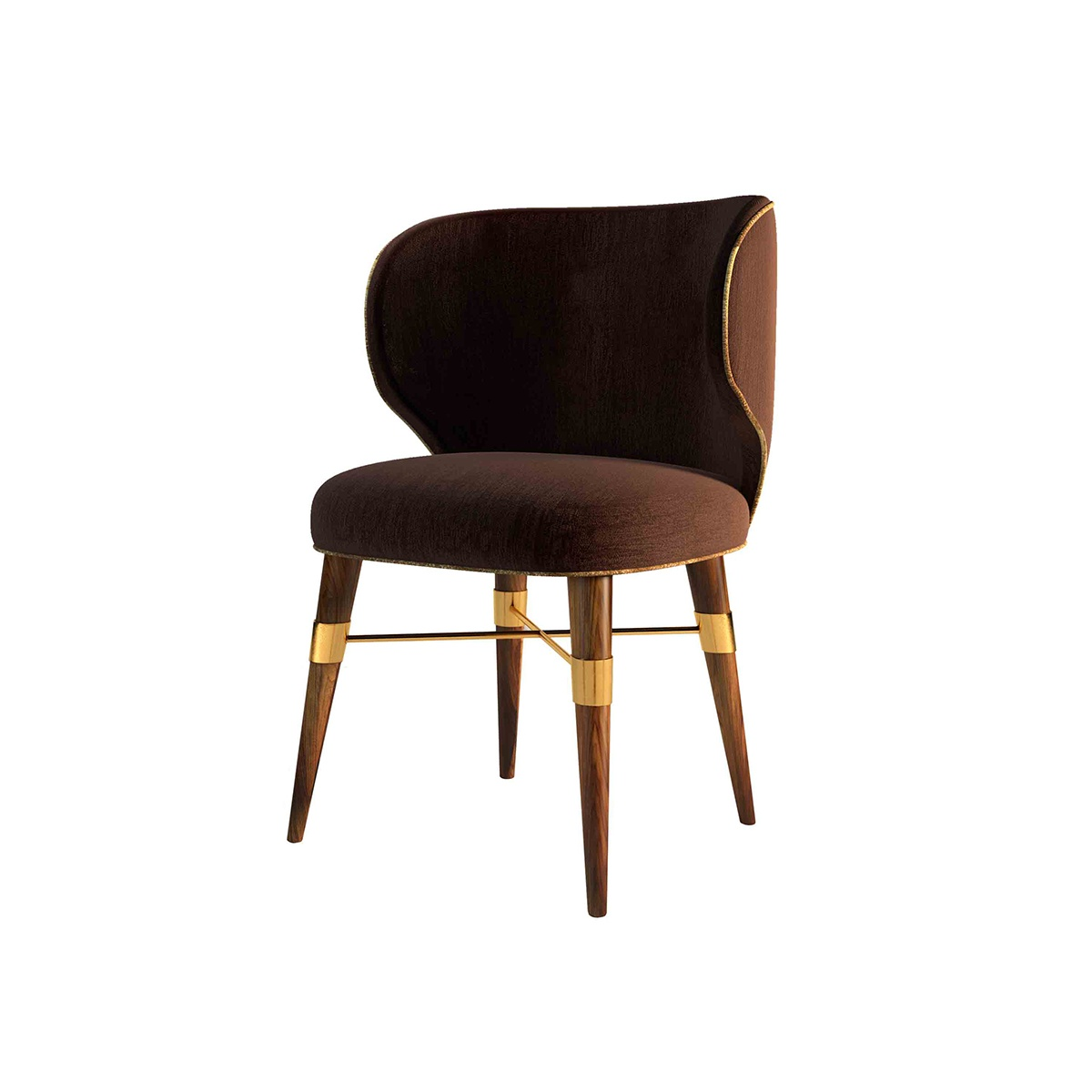 Louis velvet dining chair designer chair swanky interiors for Dining room velvet chairs