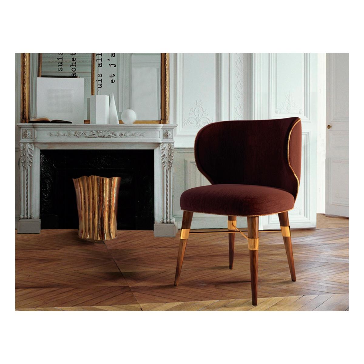 Louis Velvet Dining Chair Designer Chair Swanky Interiors