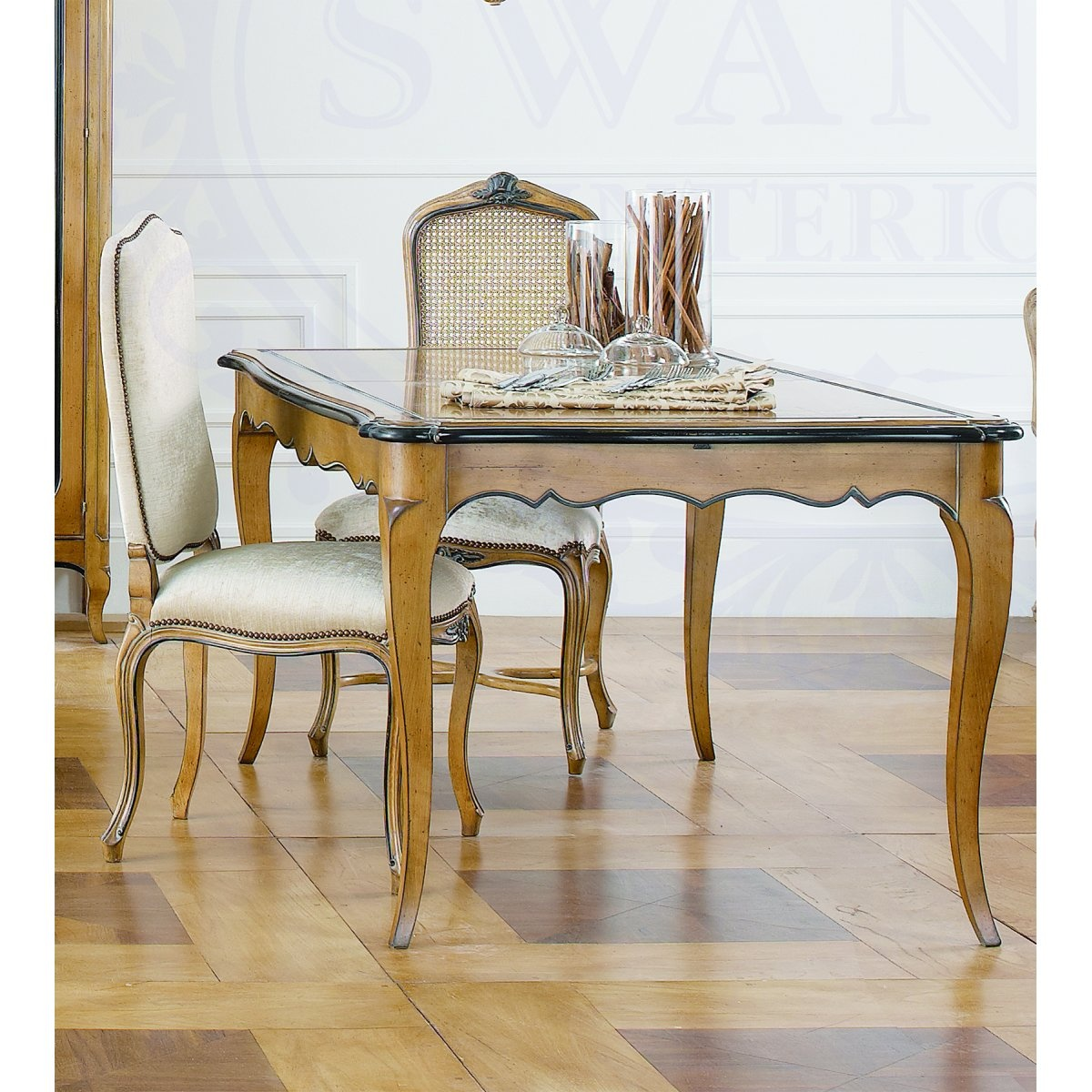 Extending Dining Table In French Style Swanky Interiors