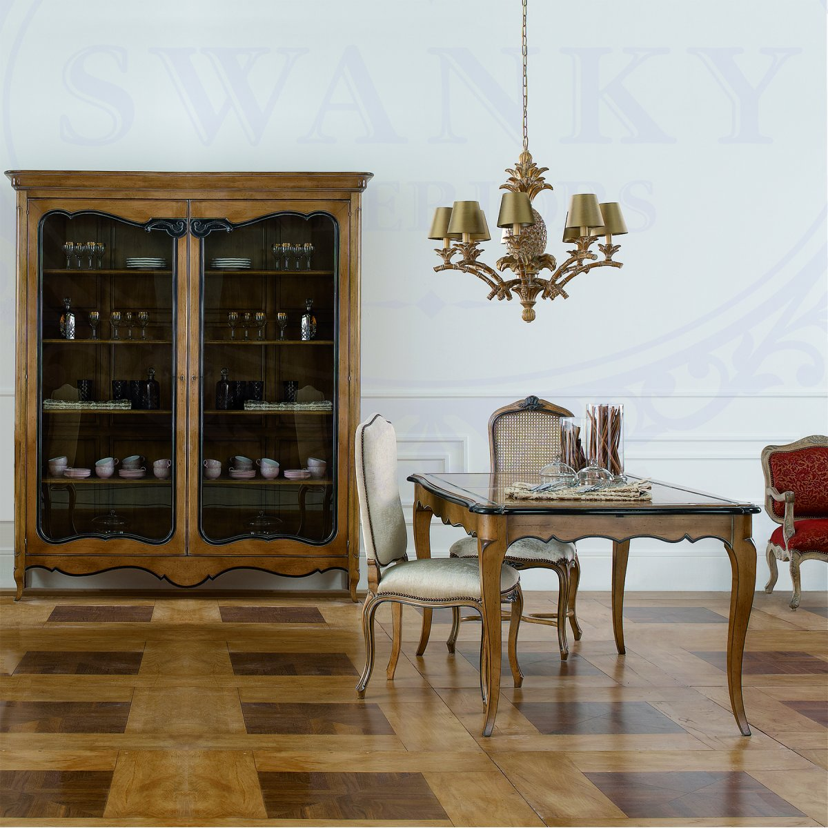French display cabinet bookcase swanky interiors for Dining room display