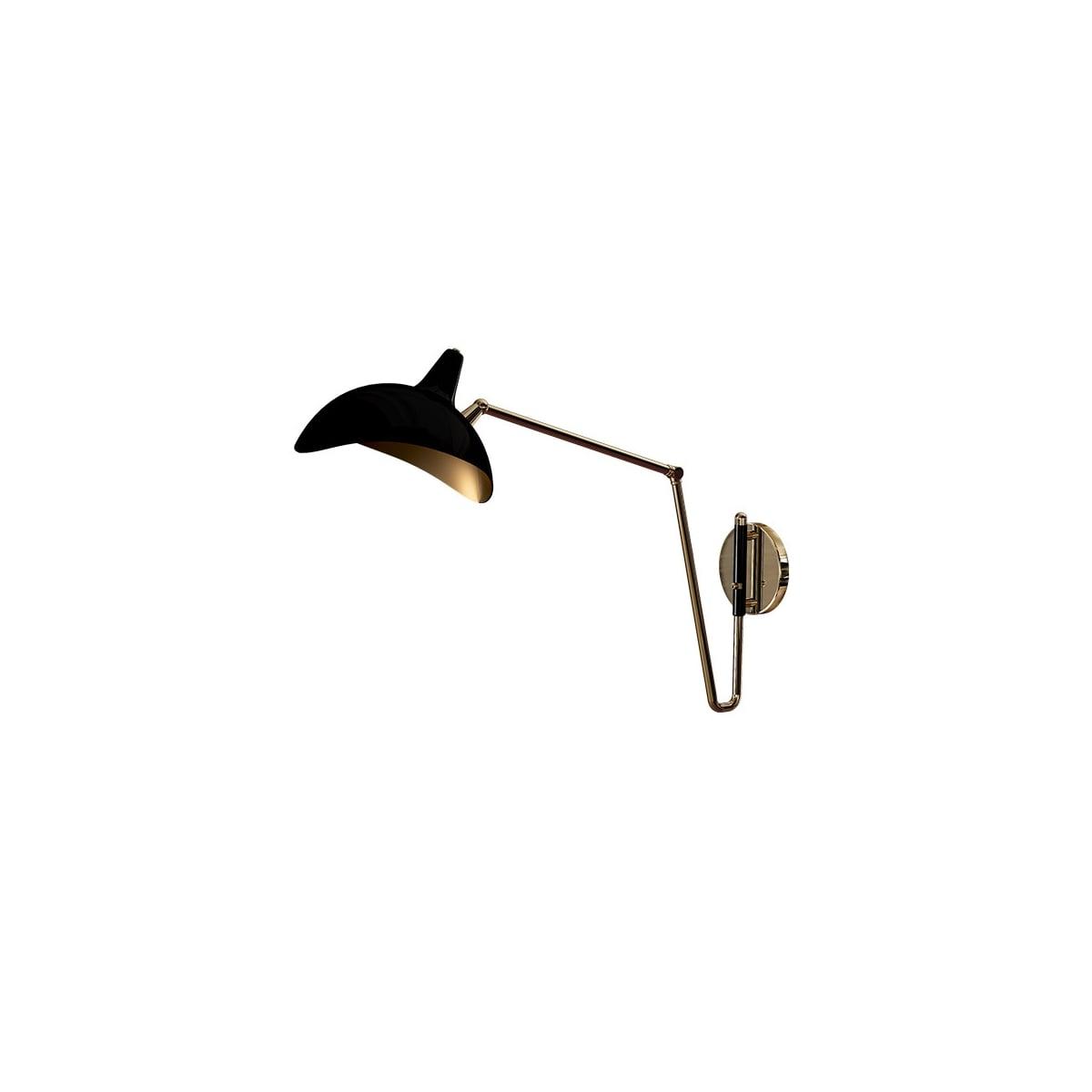 Long Arm Wall Light, Black Chelsea Swanky Interiors