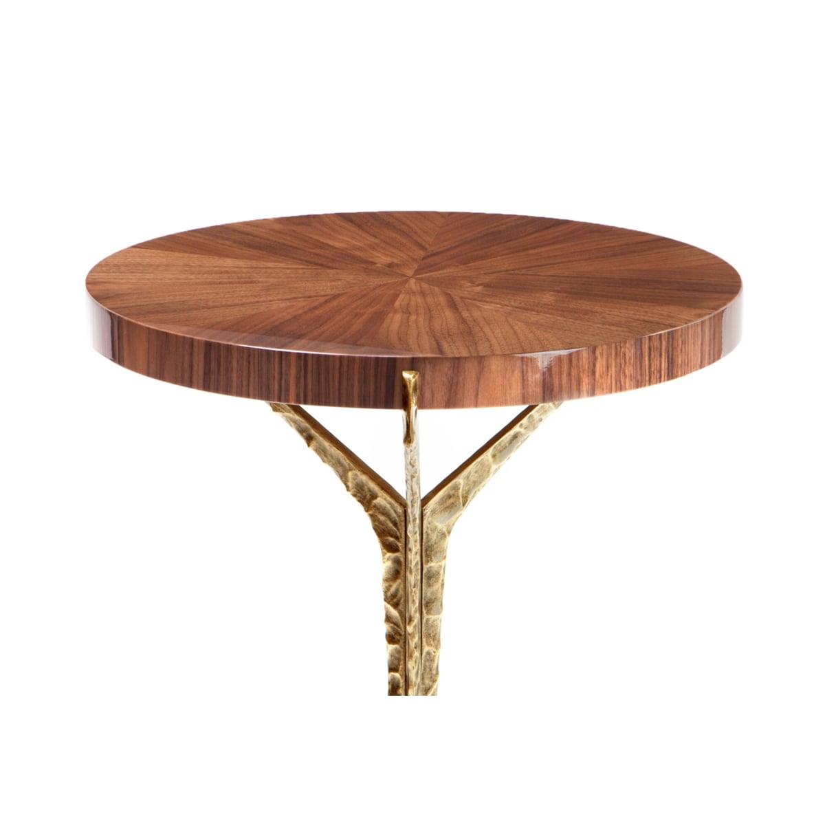 Walnut side table brass alentejo swanky interiors for Walnut side table