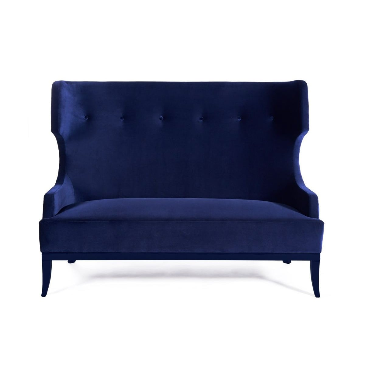 2 seat sofa blue designer furniture swanky interiors for Divan furniture