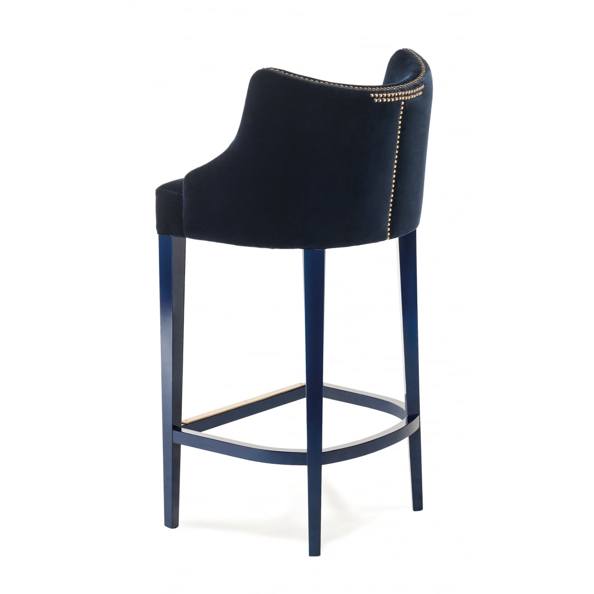 Designer Bar Stool Velvet Becomes Me Swanky Interiors