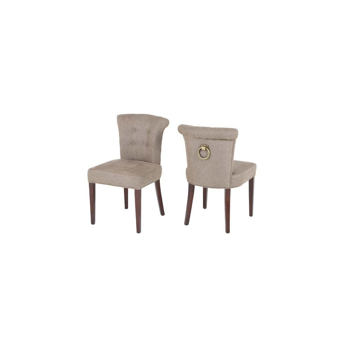 Attractive Eichholtz Ring Back Dining Chair, Linen | Swanky Interiors EC56