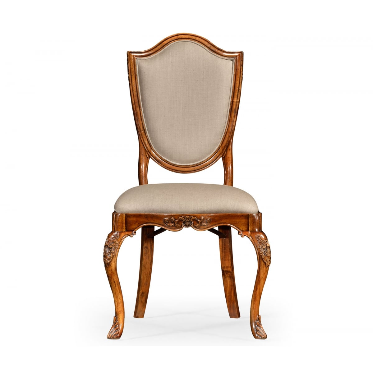 Upholstered Dining Chair Carved Swanky Interiors