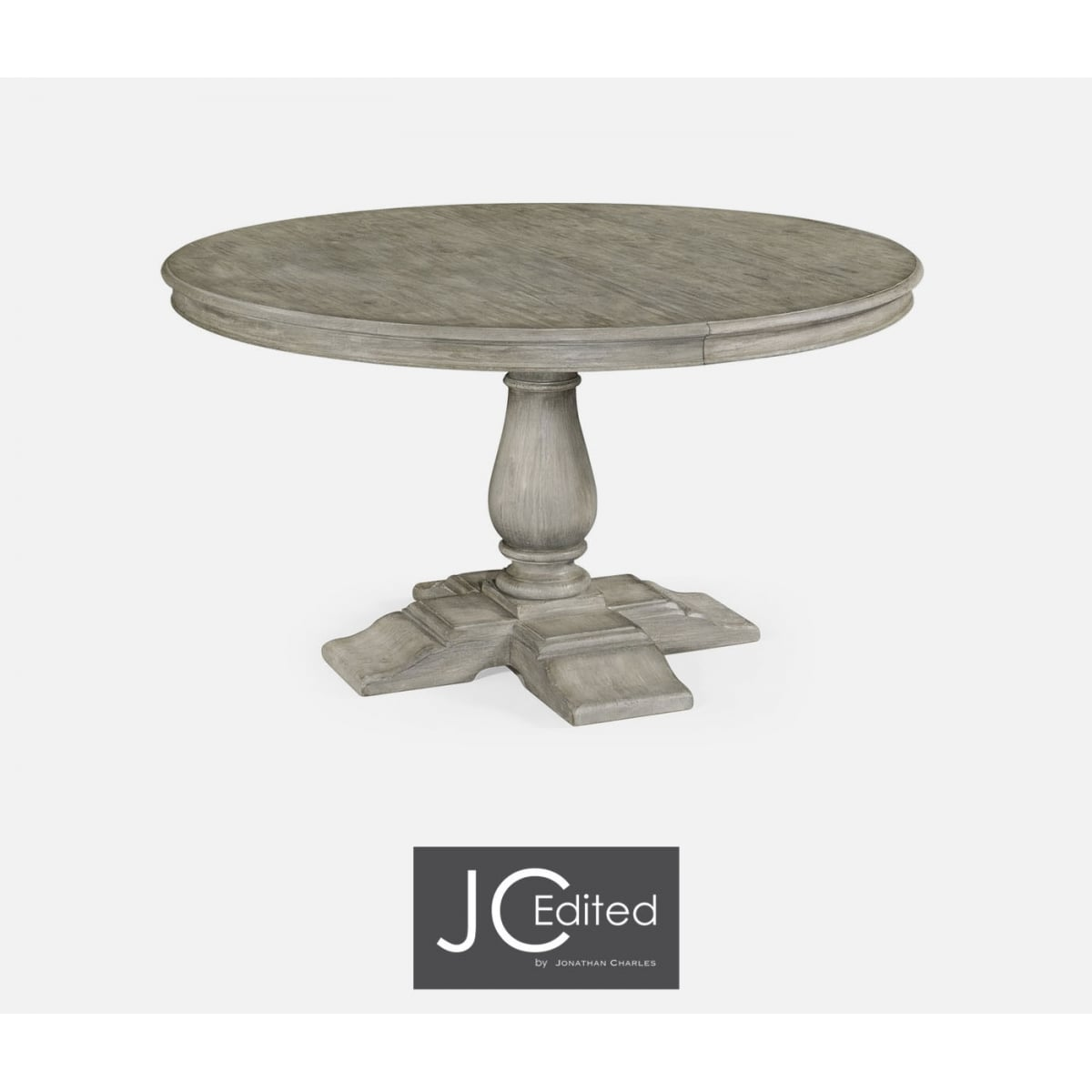 Grey round extending dining table swanky interiors for Round extending dining table