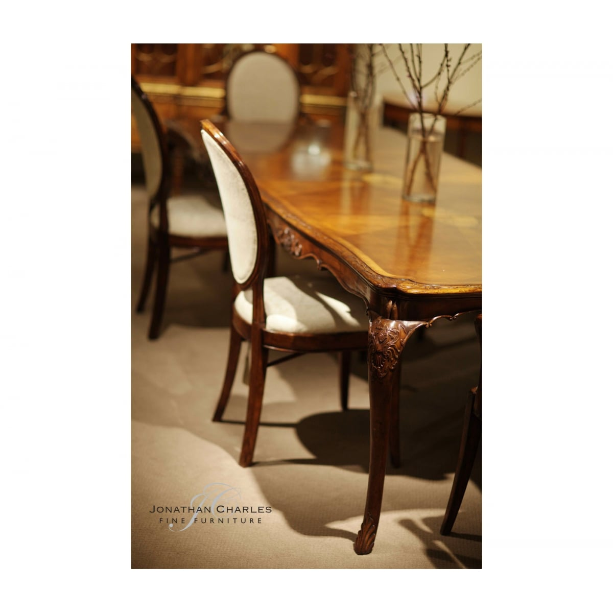 12 Seater Extending French Dining Table Swanky Interiors