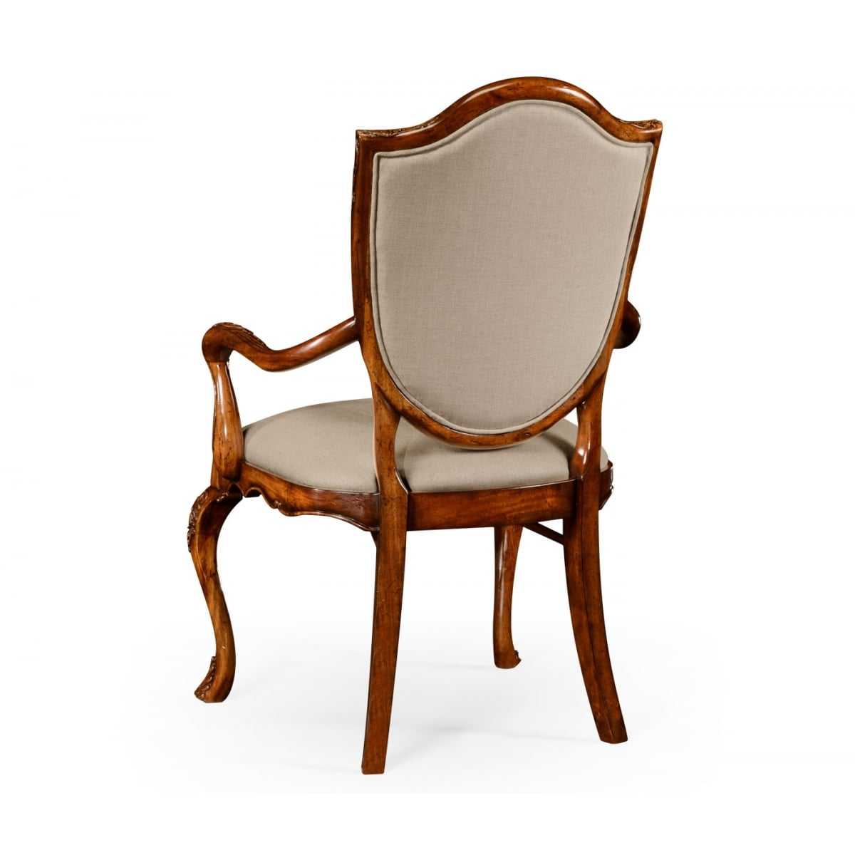 Upholstered Dining Armchair Carved Swanky Interiors