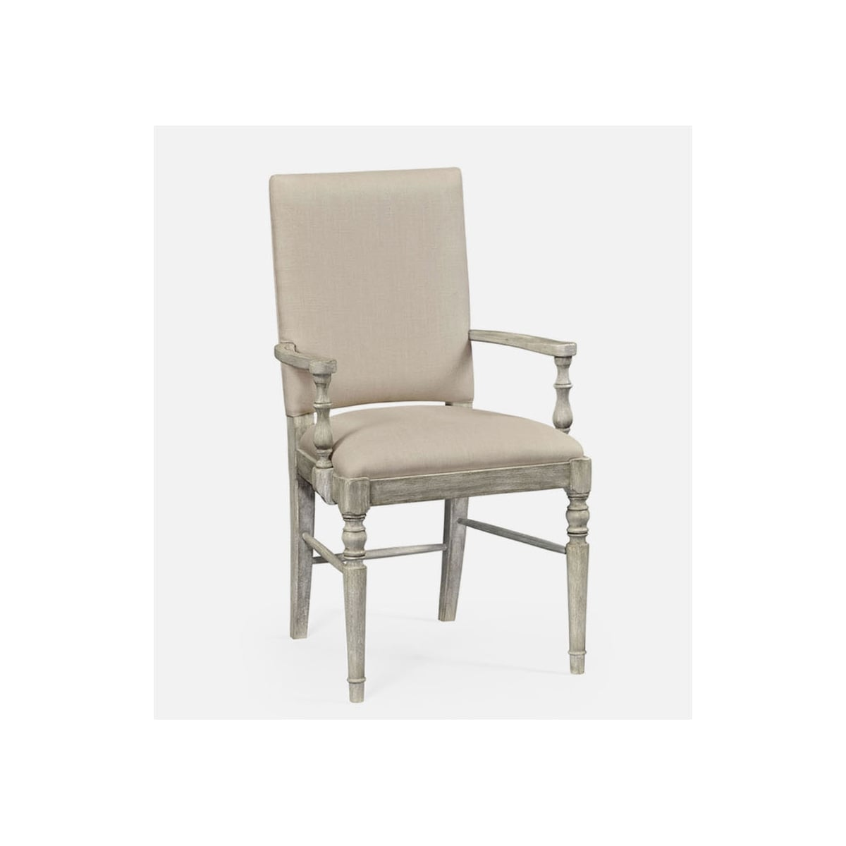 Rustic Grey Upholstered Dining Armchair Swanky Interiors