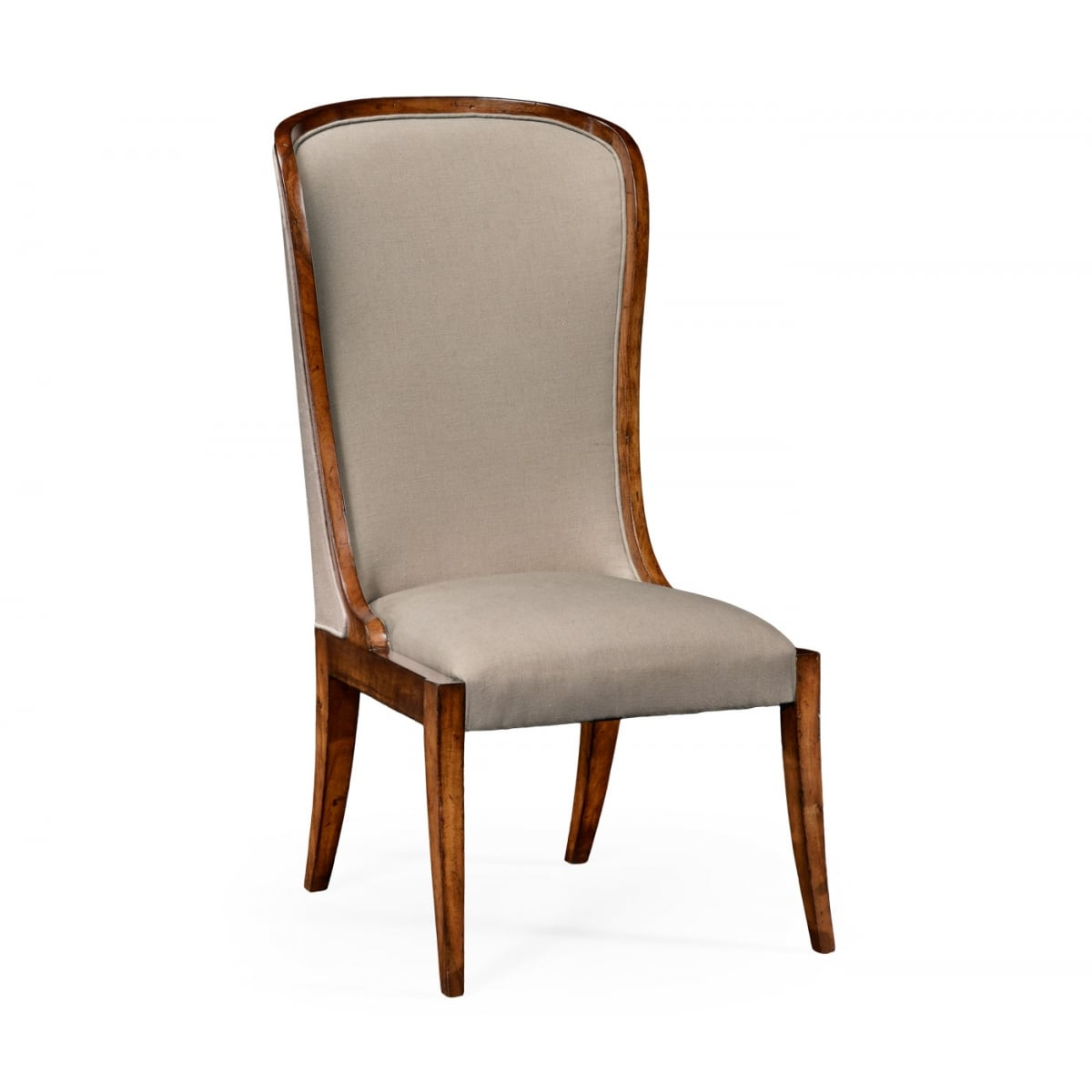 high back upholstered dining chair swanky interiors. Black Bedroom Furniture Sets. Home Design Ideas