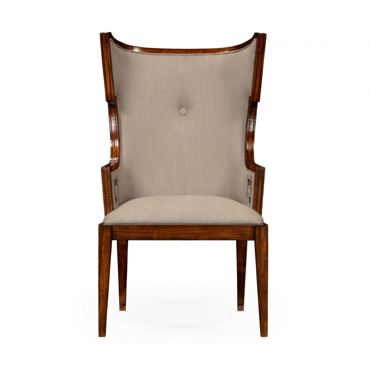 Designer Wing Chair Walnut Swanky Interiors