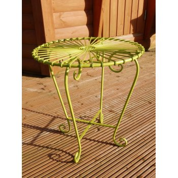 Green Retro Atomic Garden Table
