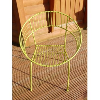 Green Retro Atomic Hoop Chair
