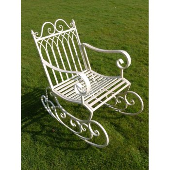 Cream Rocking Garden Chair